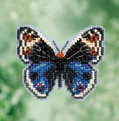 Bead Kit - Blue Pansy Butterfly