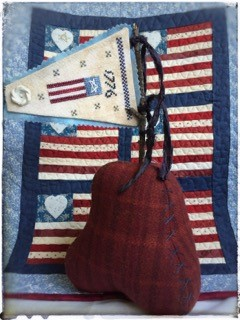 1776 Pennant & Embroidered Bell